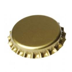 Crown cap til champagne (Kronekork) 29 mm, guld, 100 stk