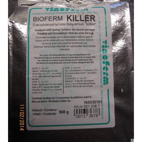 Bioferm KILLER gær, 500 gram