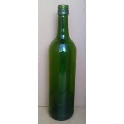 Flaske, grøn 0,7 l, (Genbrug), skruelåg, Bordeaux