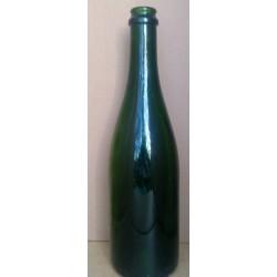 Champagneflaske, grøn 0,75 l, (Genbrug)