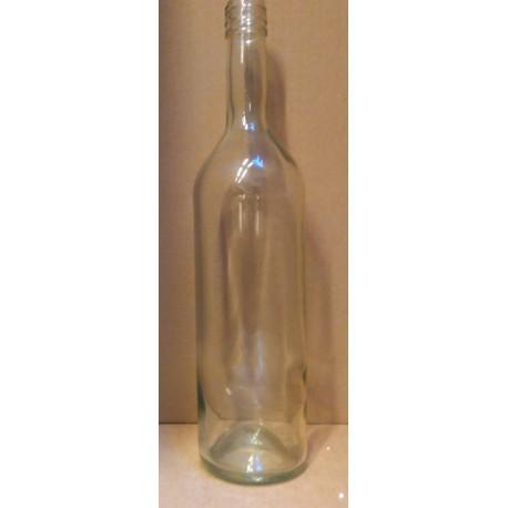Flaske, klar 0,7 l, skruelåg ,Stelvin (Genbrug)