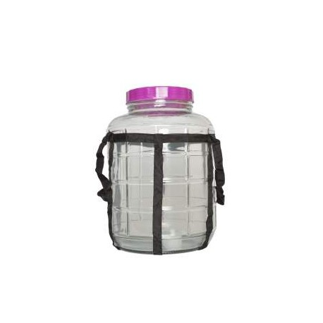 Glas bubbler, 20 l , Bred munding