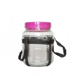 Glas bubbler, 5 l , Bred munding
