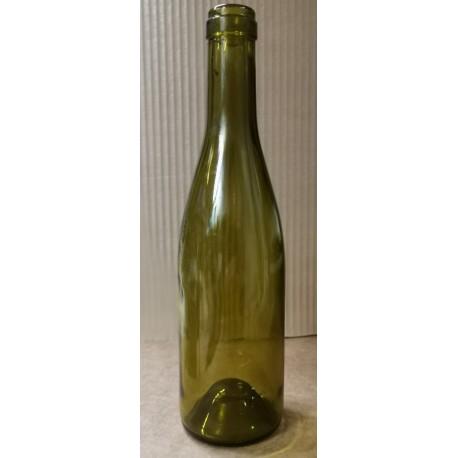 Flaske Bourgogne, grøn 0,7 l, Proplukning.