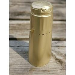 Alu top til champagne flaske, guld mat, 25 stk