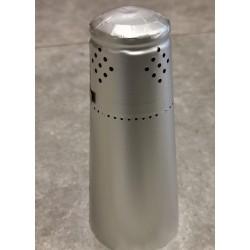 Alu top til champagne flaske,sølv, 100 stk