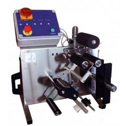 Etiketmaskine, Semiautomatisk